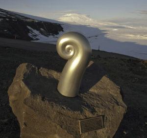 Erebus Memorial Koru sculpture