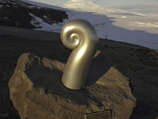 Erebus Memorial Koru sculpture