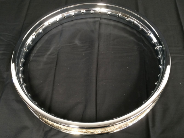 Chrome Plated Motorcycle Rim