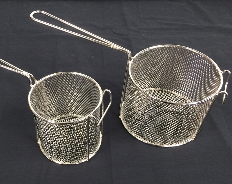 chip frying baskets - nickel electroplating, metal protection Christchurch